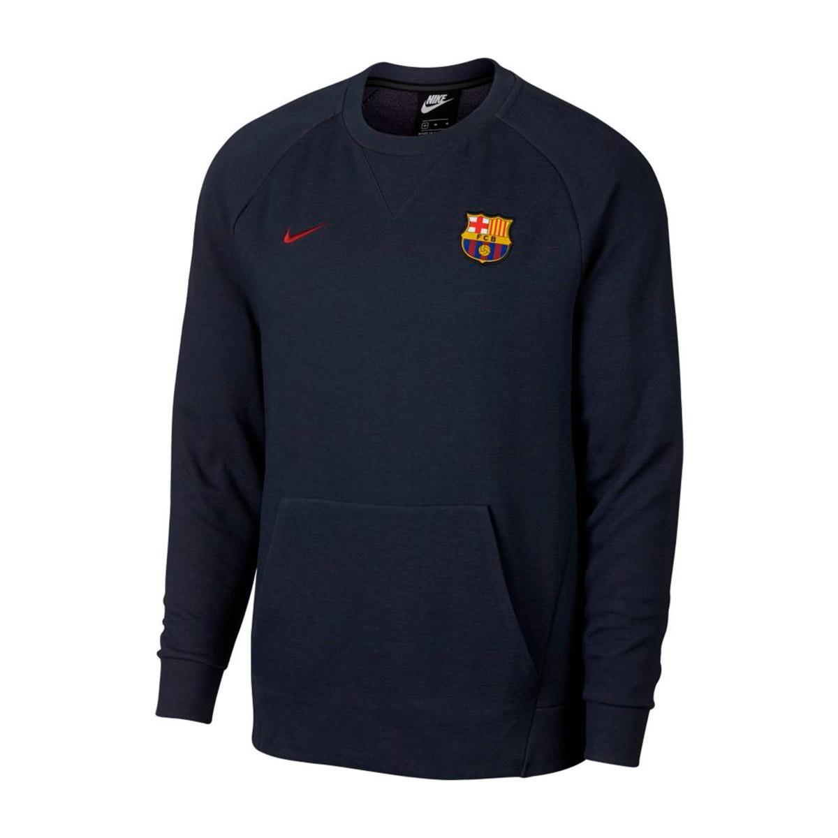 ca832e3b9aede Sudadera Nike Sportswear FC Barcelona 2018-2019 Obsidian-Cobalt tint-Noble  red - Tienda de fútbol Fútbol Emotion