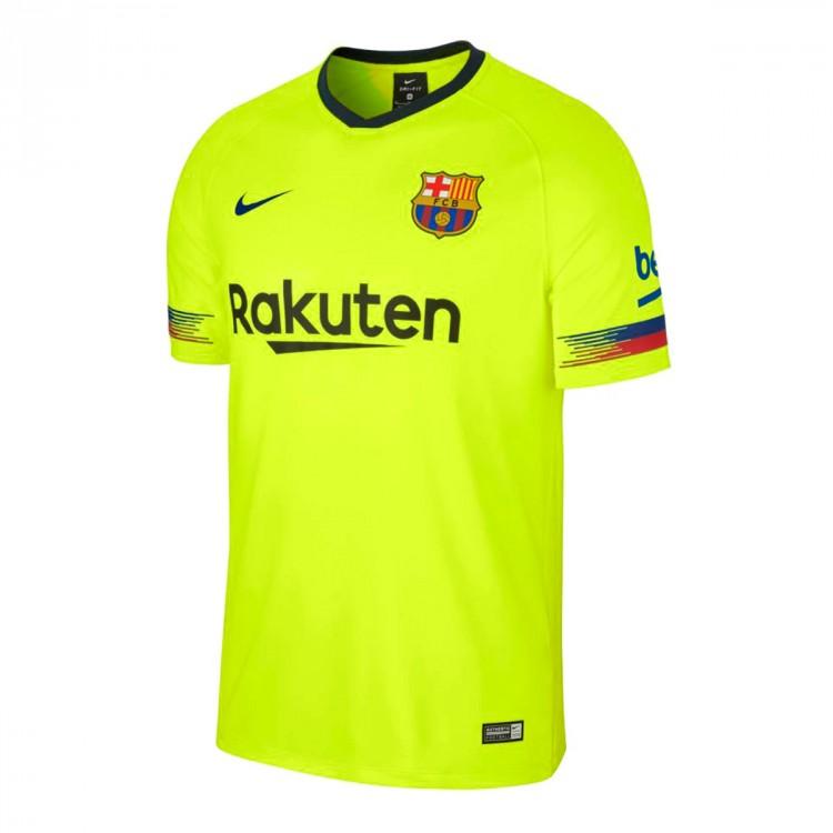 Camiseta Nike FC Barcelona Segunda Equipación 2018-2019 Volt-Deep ... 90c0e03249e8c