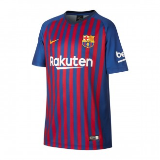 Camiseta  Nike FC Barcelona Primera Equipación 2018-2019 Niño Deep royal blue-University gold
