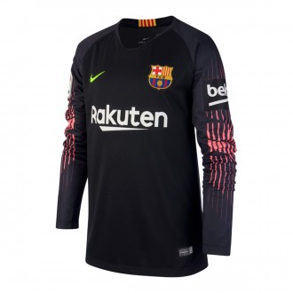 Jersey  Nike Kids Goalkeeper FC Barcelona Stadium 2018-2019  Black-Volt