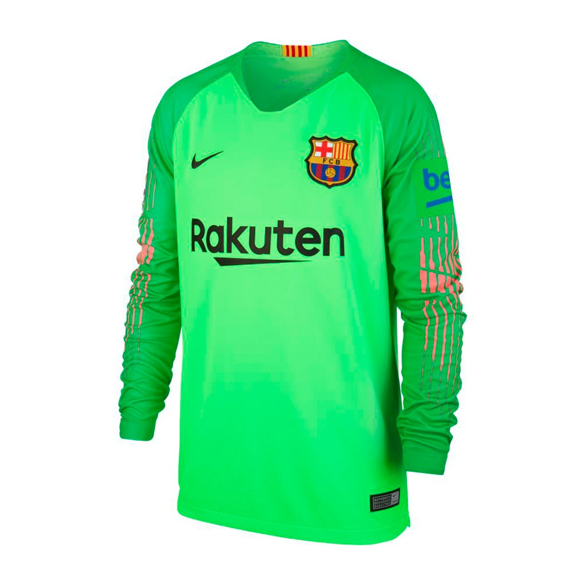 818b4074768 Jersey Nike Kids Goalkeeper FC Barcelona Stadium 2018-2019 Green ...