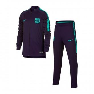 Tracksuit  Nike Kids Dry FC Barcelona Squad 2018-2019 Purple dynasty-Hyper turquoise