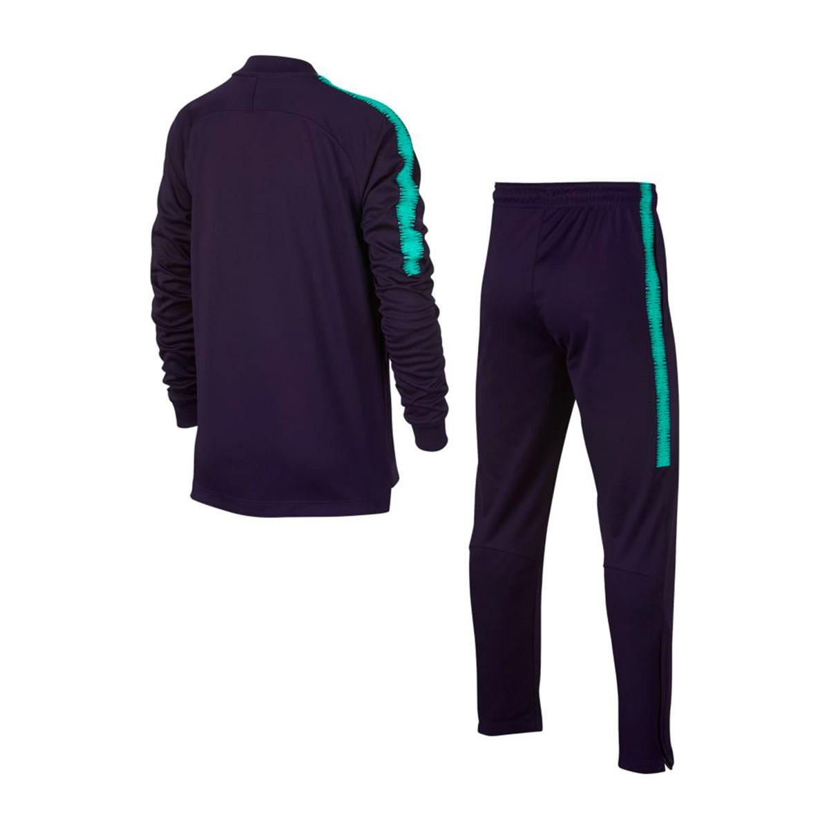 Chándal Nike Dry FC Barcelona Squad 2018-2019 Niño Purple dynasty-Hyper  turquoise - Soloporteros es ahora Fútbol Emotion 50ebb28de79e3