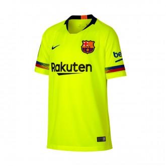 Camiseta  Nike FC Barcelona Stadium Segunda Equipación 2018-2019 Niño Volt-Deep royal blue