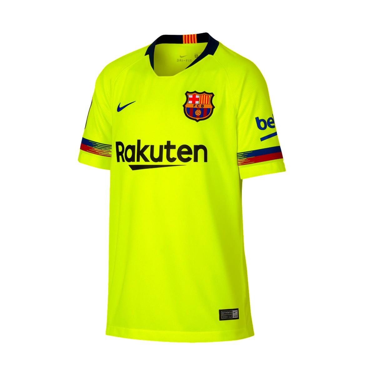 fb8678718 Camiseta Nike FC Barcelona Stadium Segunda Equipación 2018-2019 Niño  Volt-Deep royal blue - Tienda de fútbol Fútbol Emotion