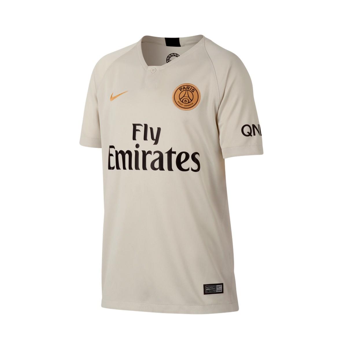 Camiseta Nike Paris Saint-Germain Stadium Segunda Equipación 2018-2019 Niño  Light bone-Truly gold - Soloporteros es ahora Fútbol Emotion d2db6bc89a567