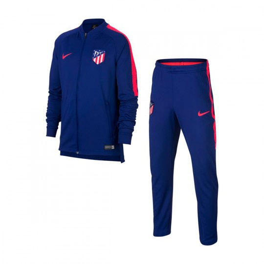 surv tement nike dry atl tico de madrid squad 2018 2019 deep royal blue bright crimson. Black Bedroom Furniture Sets. Home Design Ideas