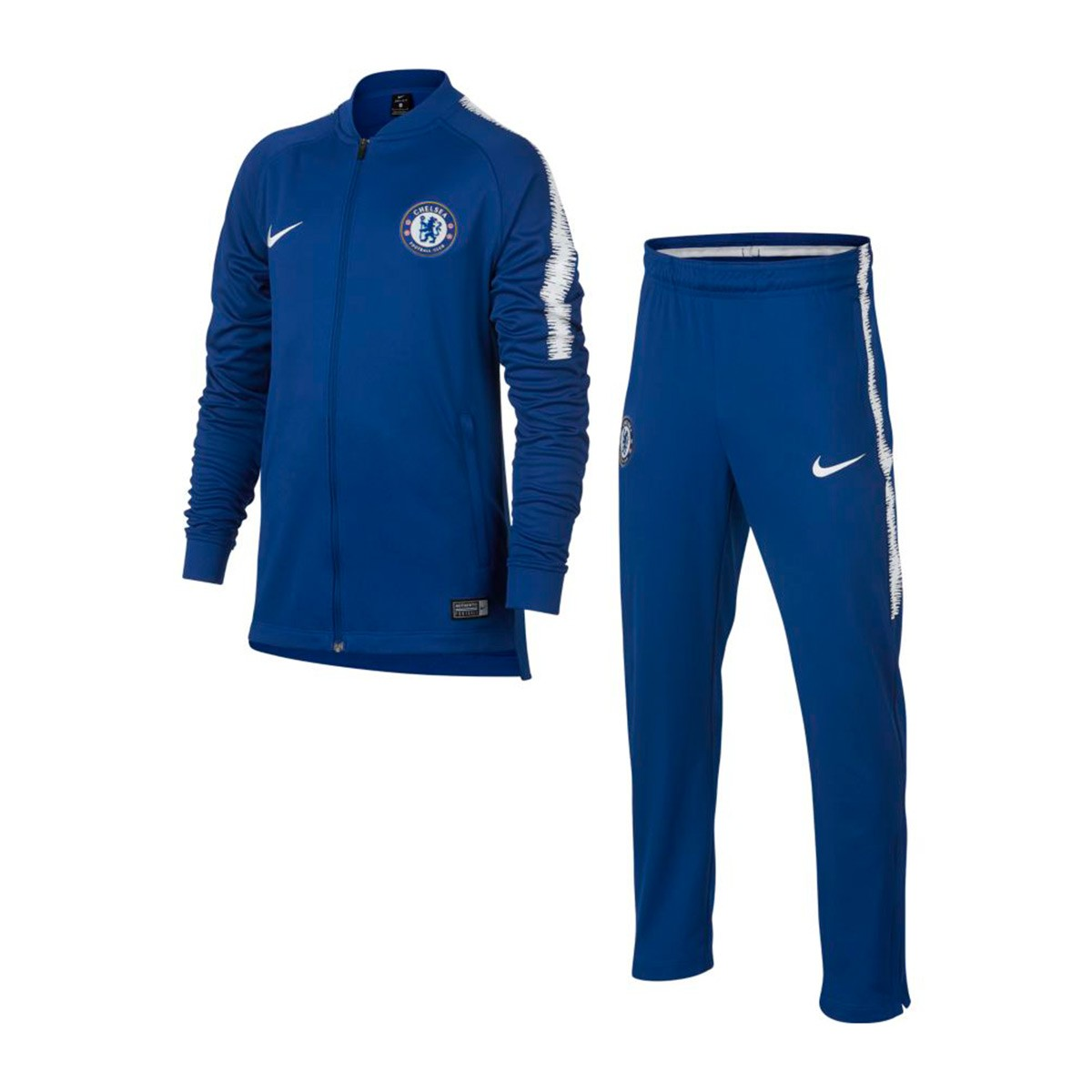55dc99e8488da Tracksuit Nike Kids Dry Chelsea FC Squad 2018-2019 Rush blue-White ...