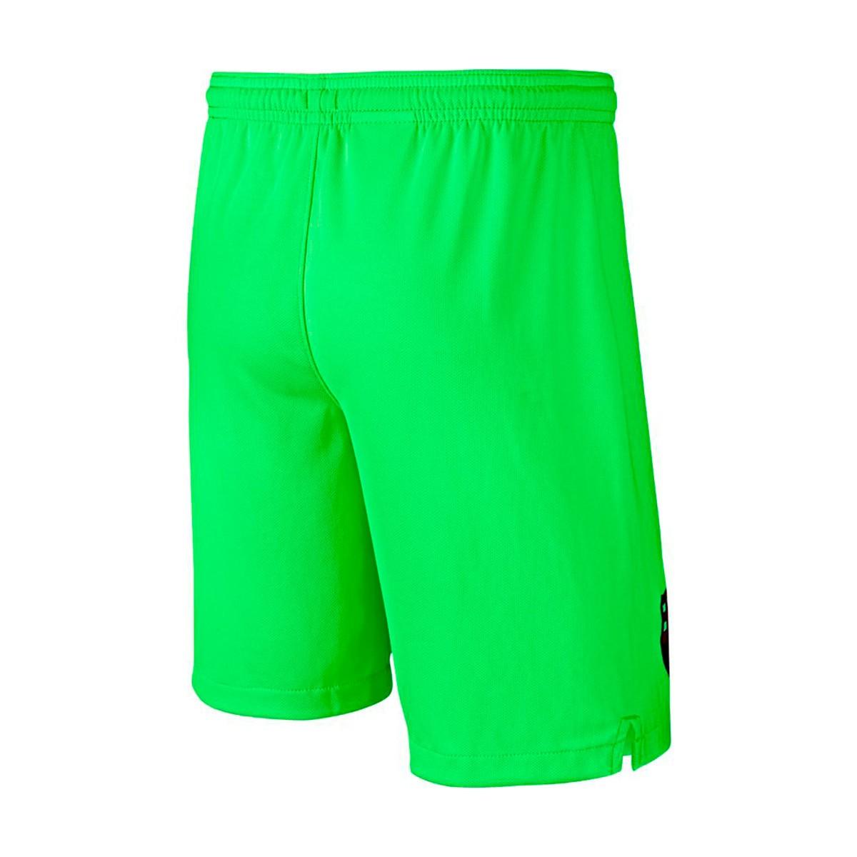 09d0a2646239 Nike Kids Goalkeeper FC Barcelona Stadium 2018-2019 Home Shorts. Green  strike-Black ...