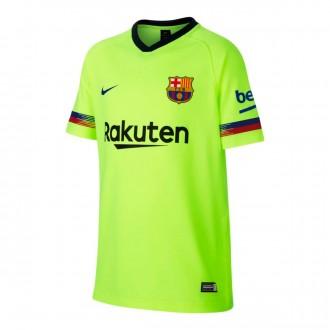 Camiseta  Nike FC Barcelona FTBL Segunda Equipación 2018-2019 Niño Volt-Deep royal blue