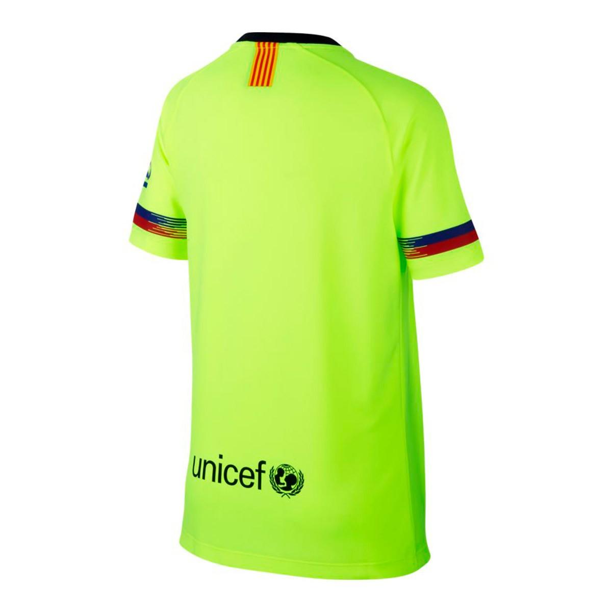 Camiseta Nike FC Barcelona Segunda Equipación 2018-2019 Niño Volt ... 6b0081513e959