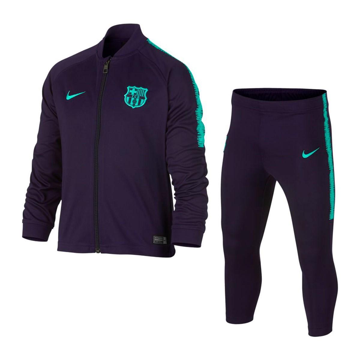 6cae0c8b8a36d Chándal Nike Dry FC Barcelona Squad 2018-2019 Niño Purple dynasty-Hyper  turquoise - Tienda de fútbol Fútbol Emotion