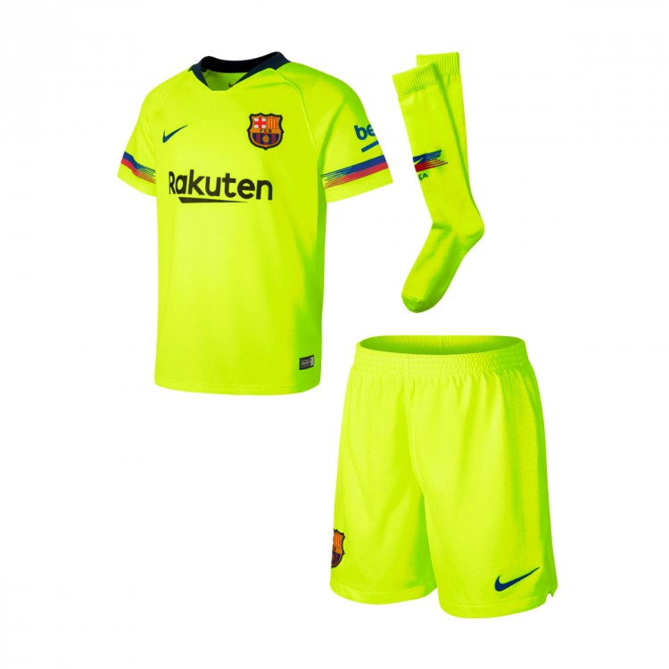 Conjunto Nike FC Barcelona Segunda Equipación 2018-2019 Niño Volt ... 25131f7039d