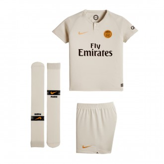 Conjunto  Nike Paris Saint-Germain Segunda Equipación 2018-2019 Niño Light bone-Truly gold