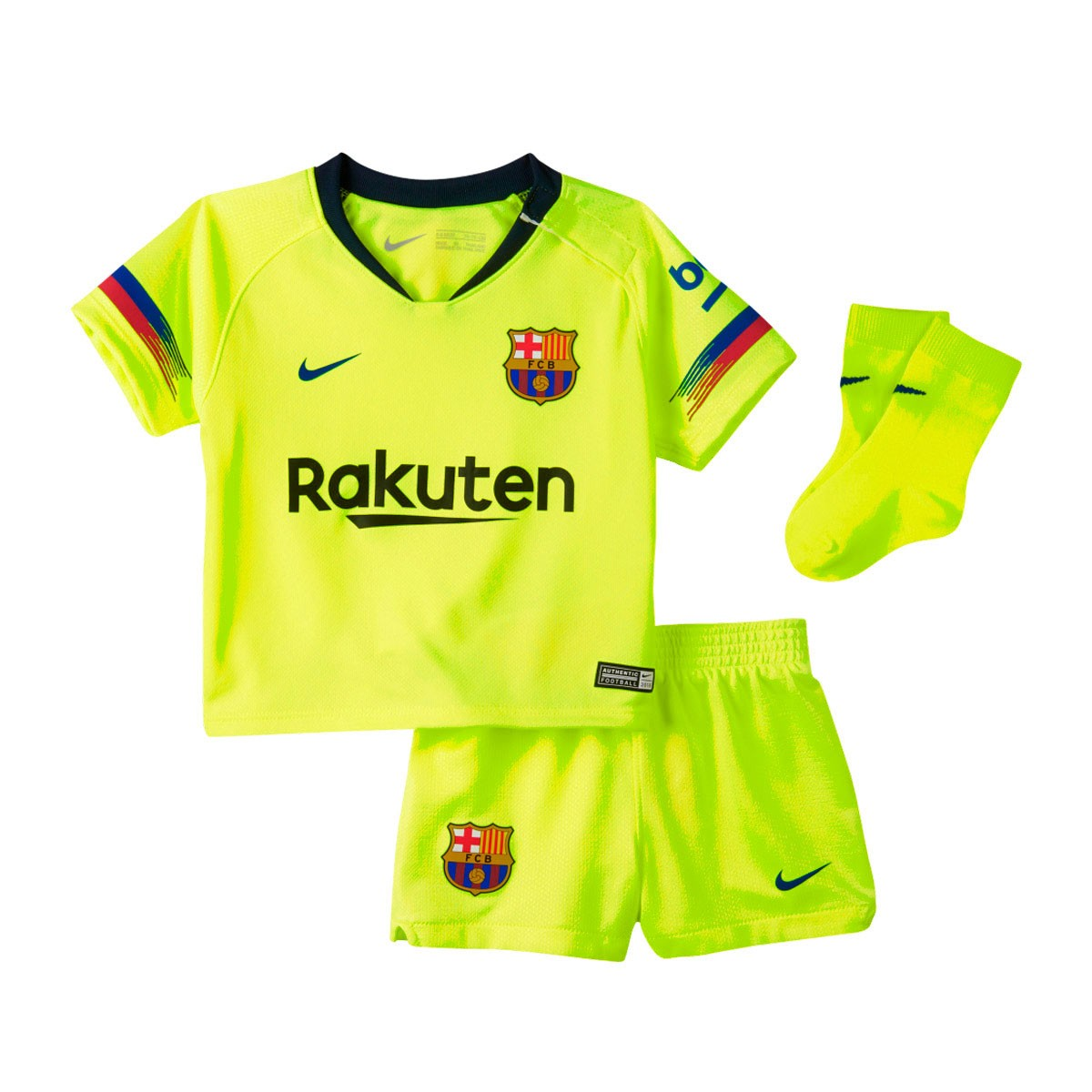 ffaa9a20ca8 Nike Infant FC Barcelona 2018-2019 Away Kit. Volt-Deep royal blue ...