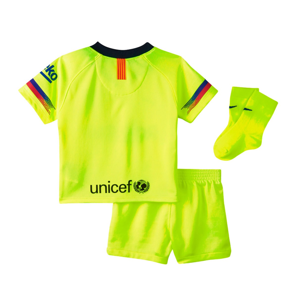 eb11b26acbf Kit Nike Infant FC Barcelona 2018-2019 Away Volt-Deep royal blue - Football  store Fútbol Emotion