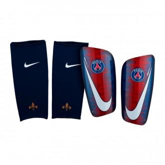 Espinillera  Nike Mercurial Lite Paris Saint-Germain 2018-2019 Loyal blue-Challenge red-White