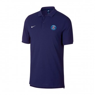 Polo shirt  Nike Paris Saint-Germain 2018-2019 Loyal blue-White