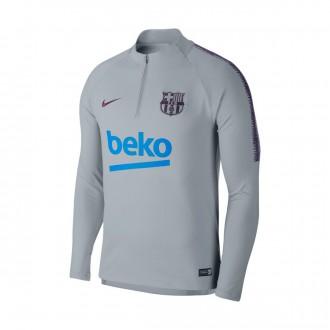 Sweatshirt  Nike FC Barcelona Squad 2018-2019 Wolf grey-Purple dynasty