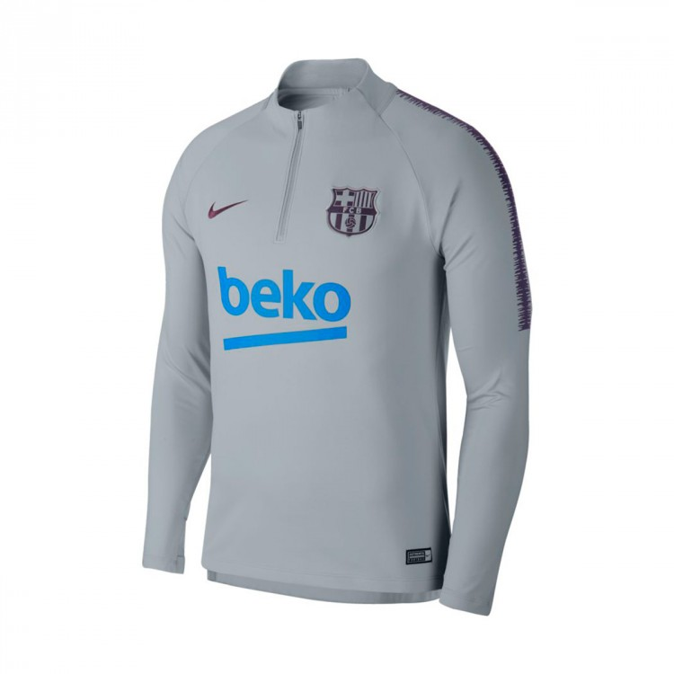 2ee568197 Sweatshirt Nike FC Barcelona Squad 2018-2019 Wolf grey-Purple ...