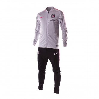 Tracksuit  Nike Paris Saint-Germain Squad 2018-2019 Wolf grey-Black-Hyper pink