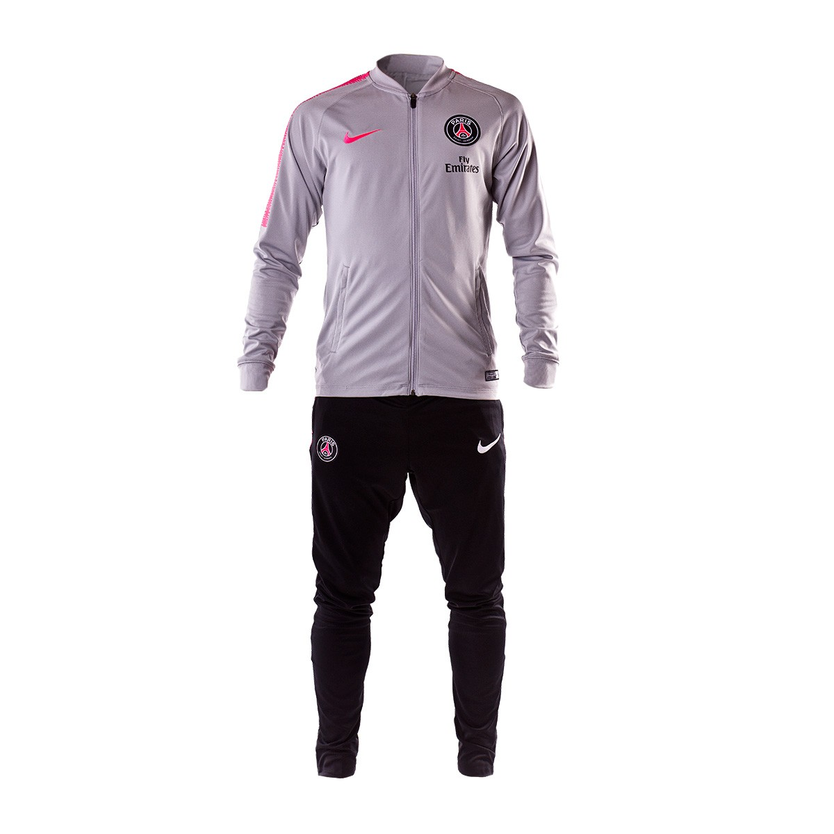 Tracksuit Nike Paris Saint-Germain Squad 2018-2019 Wolf grey-Black ... 2869ce402bcc