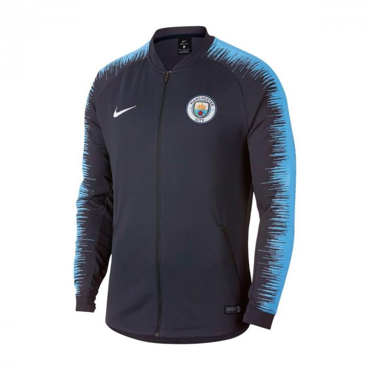 premium selection 2e16f 331c4 Chaqueta Manchester City FC 2018-2019 Dark Obsidian-Field blue-White