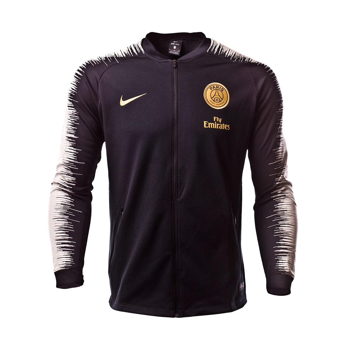 Casaco Nike Paris Saint-Germain 2018-2019 Black-Light bone-Truly gold -  Loja de futebol Fútbol Emotion e62ee1492be2f