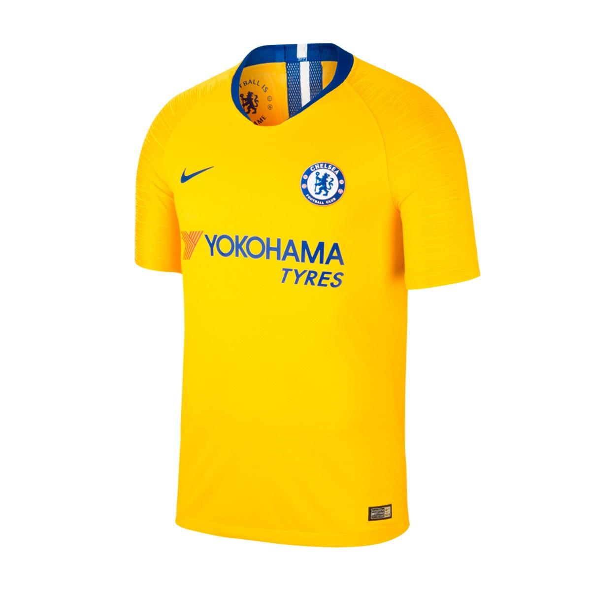 9ea1b2f23 Jersey Nike Vapor Chelsea FC 2018-2019 Away Tour yellow-Rush blue ...