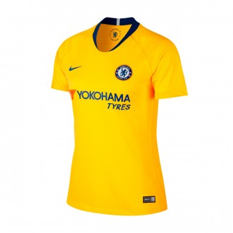 Jersey  Nike Woman Chelsea FC Stadium 2018-2019 Away Tour yellow-Rush blue