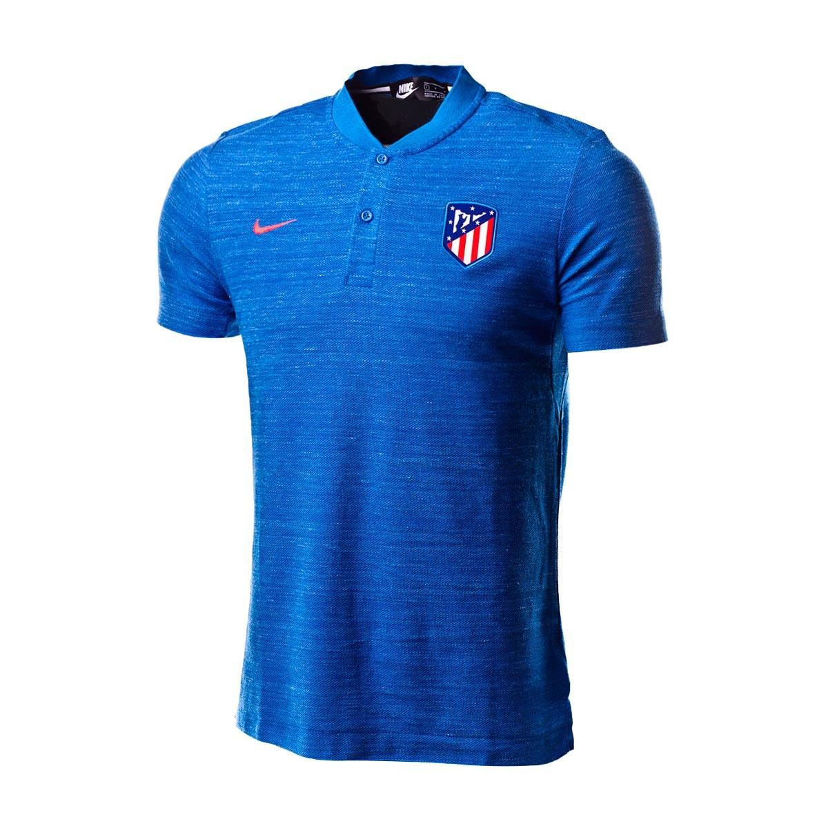 1577a04d47f2a Polo Nike Atlético de Madrid Grand Slam 2018-2019 Blue nebula-Bright  crimson - Tienda de fútbol Fútbol Emotion