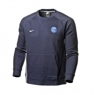 Sweatshirt  Nike Sportswear Paris Saint-Germain 2018-2019 Dark Obsidian-Midnight navy-White