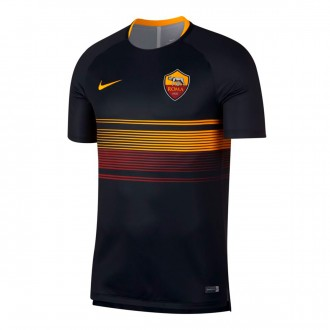 Camiseta  Nike AS Roma Squad 2018-2019 Black-University gold