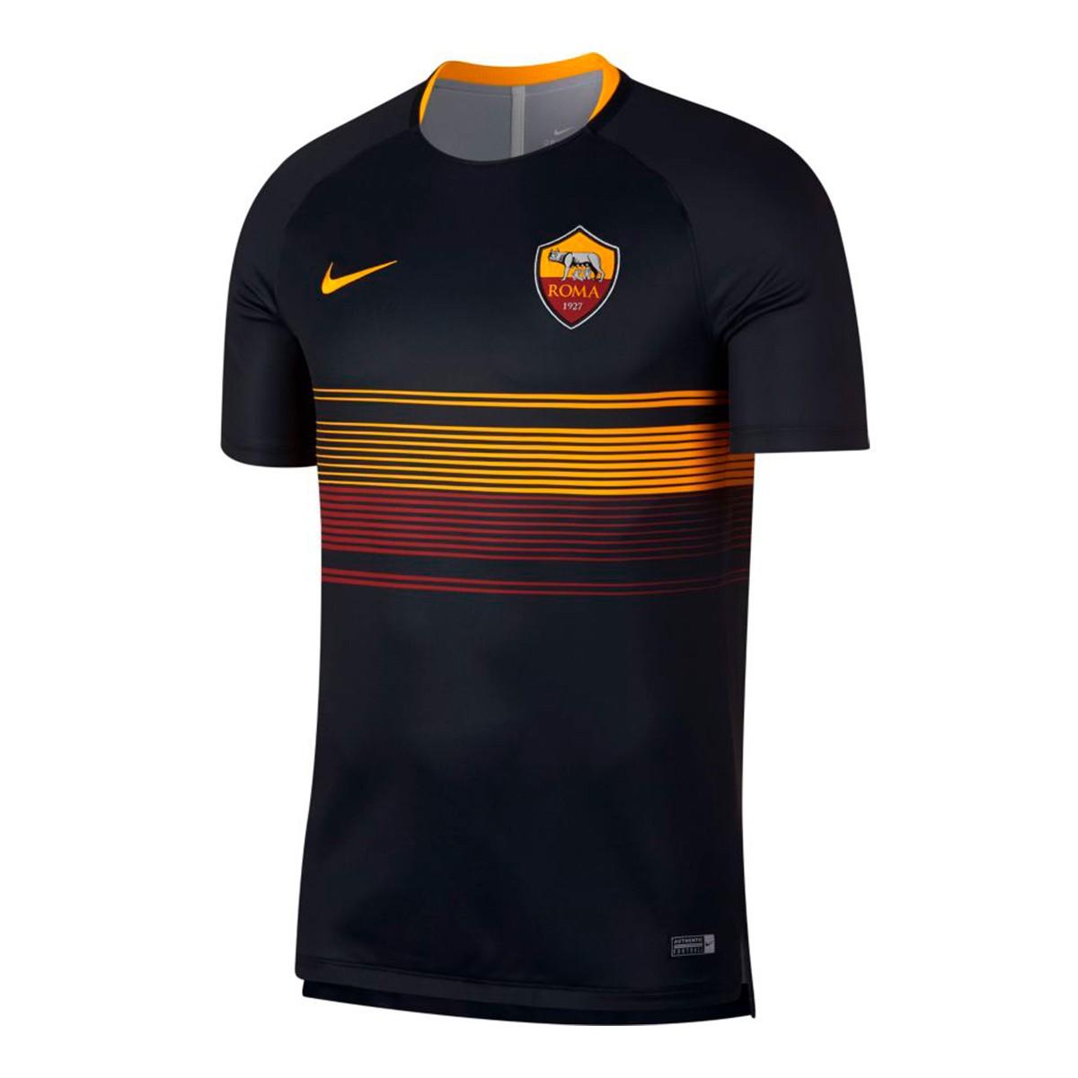 0f322c7bfcfda Jersey Nike AS Roma Squad 2018-2019 Black-University gold - Tienda ...