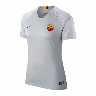 Camiseta  Nike AS Roma Stadium Segunda Equipación 2018-2019 Mujer Wolf grey-Black