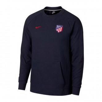 Sweatshirt  Nike Sportswear Atlético de Madrid 2018-2019 Obsidian-Gridiron-Sport red