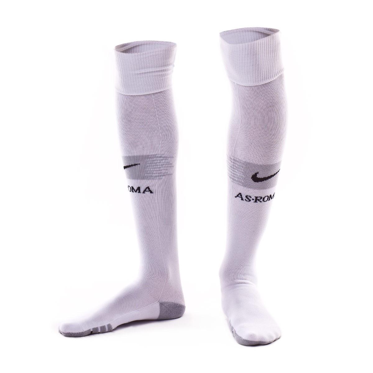 considerado ornamento computadora  Football Socks Nike AS Roma Stadium 2018-2019 White-Wolf grey-Black -  Football store Fútbol Emotion