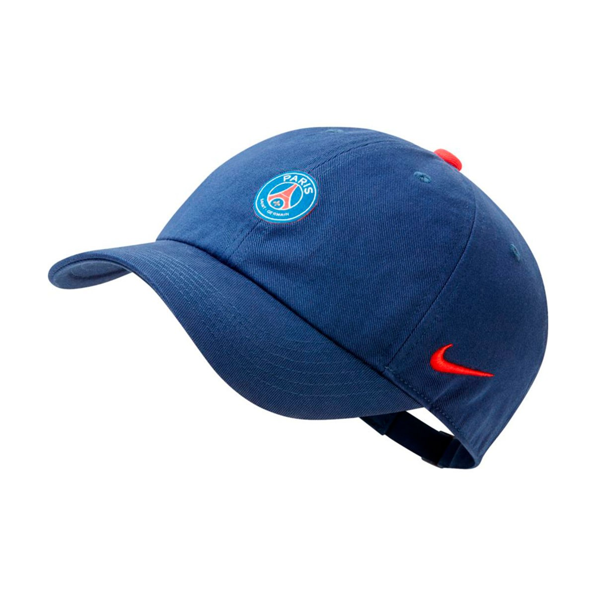 21346751f3b39 Casquette Nike Paris Saint-Germain Heritage86 2018-2019 Enfant Midnight  navy-Challenge red - Boutique de football Fútbol Emotion