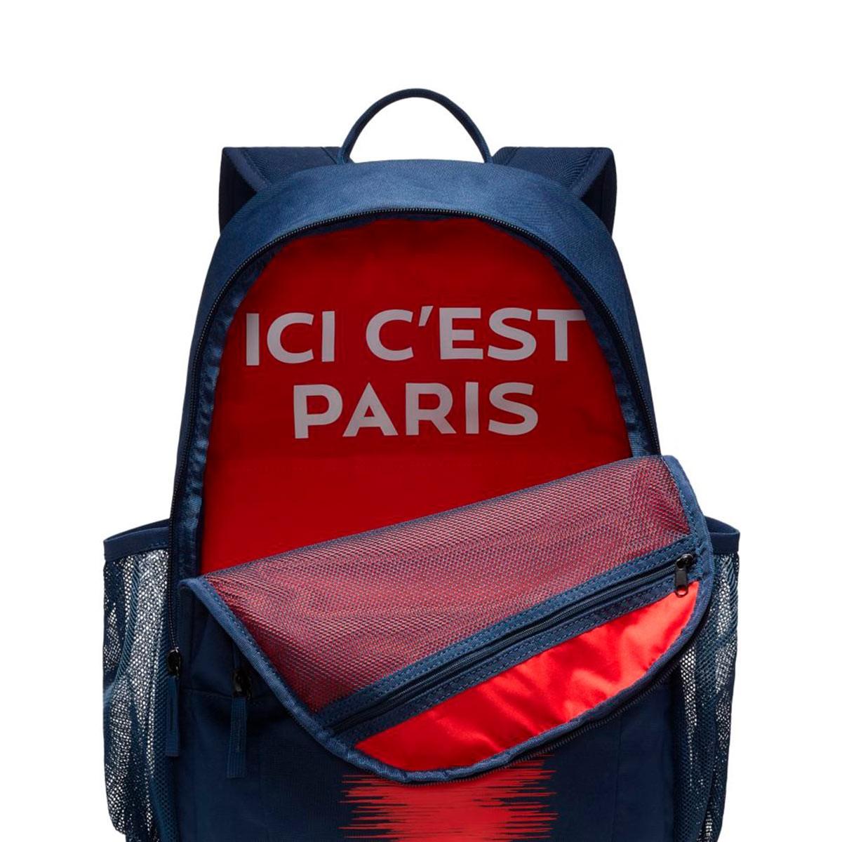 f9da80e7e35ef Mochila Nike Paris Saint-Germain Stadium 2018-2019 Midnight navy-White -  Tienda de fútbol Fútbol Emotion