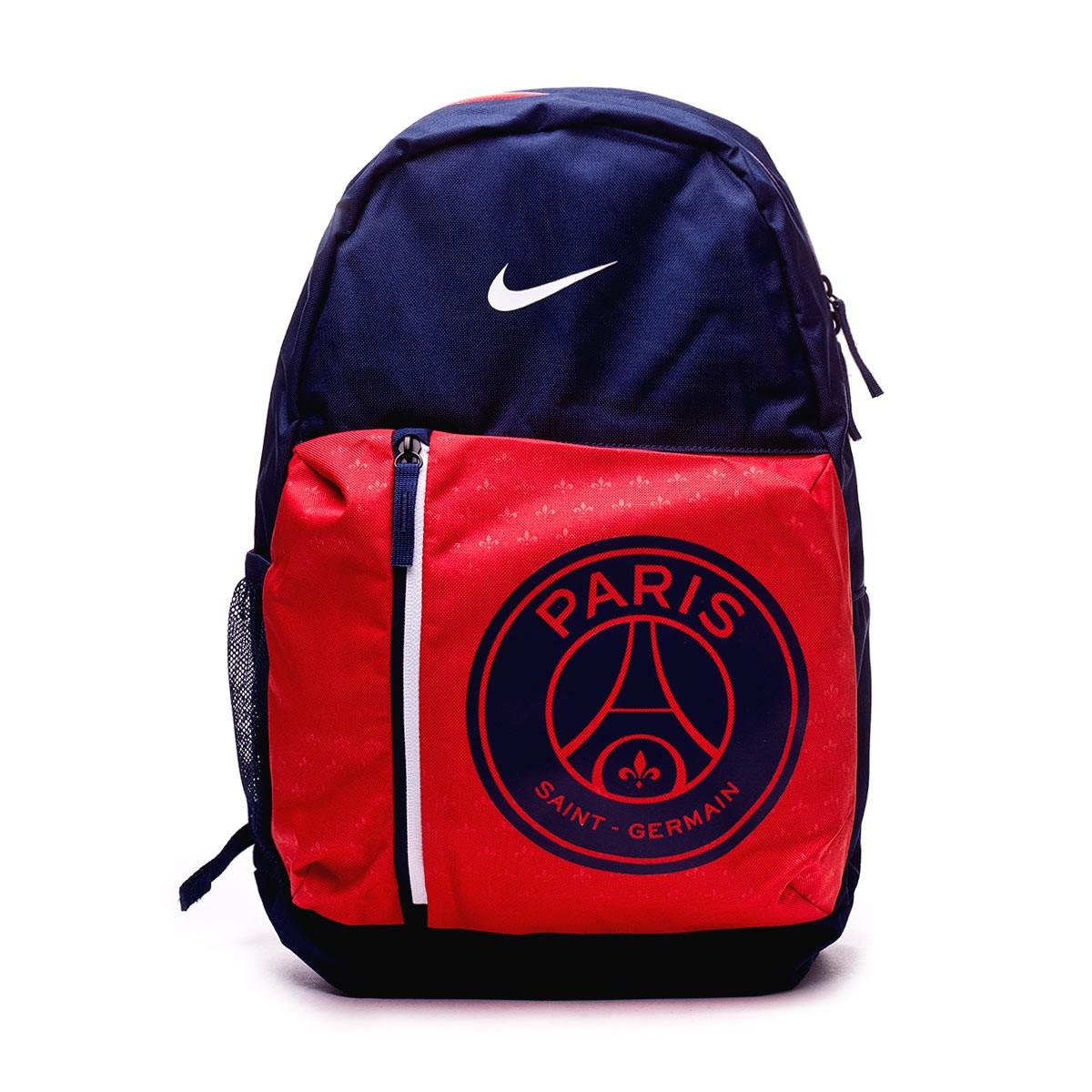 2cf0bf8d44337 Mochila Nike Paris Saint-Germain Stadium 2018-2019 Midnight navy-Challenge  red-White - Tienda de fútbol Fútbol Emotion