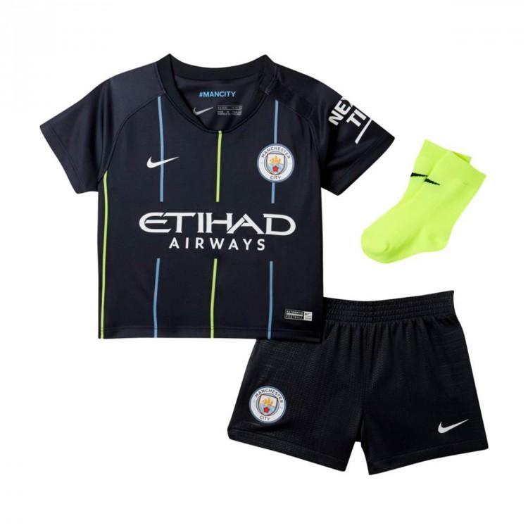 5c17237a7d77b Tenue Nike Bebé Manchester City FC Extérieur 2018-2019 Dark Obsidian ...