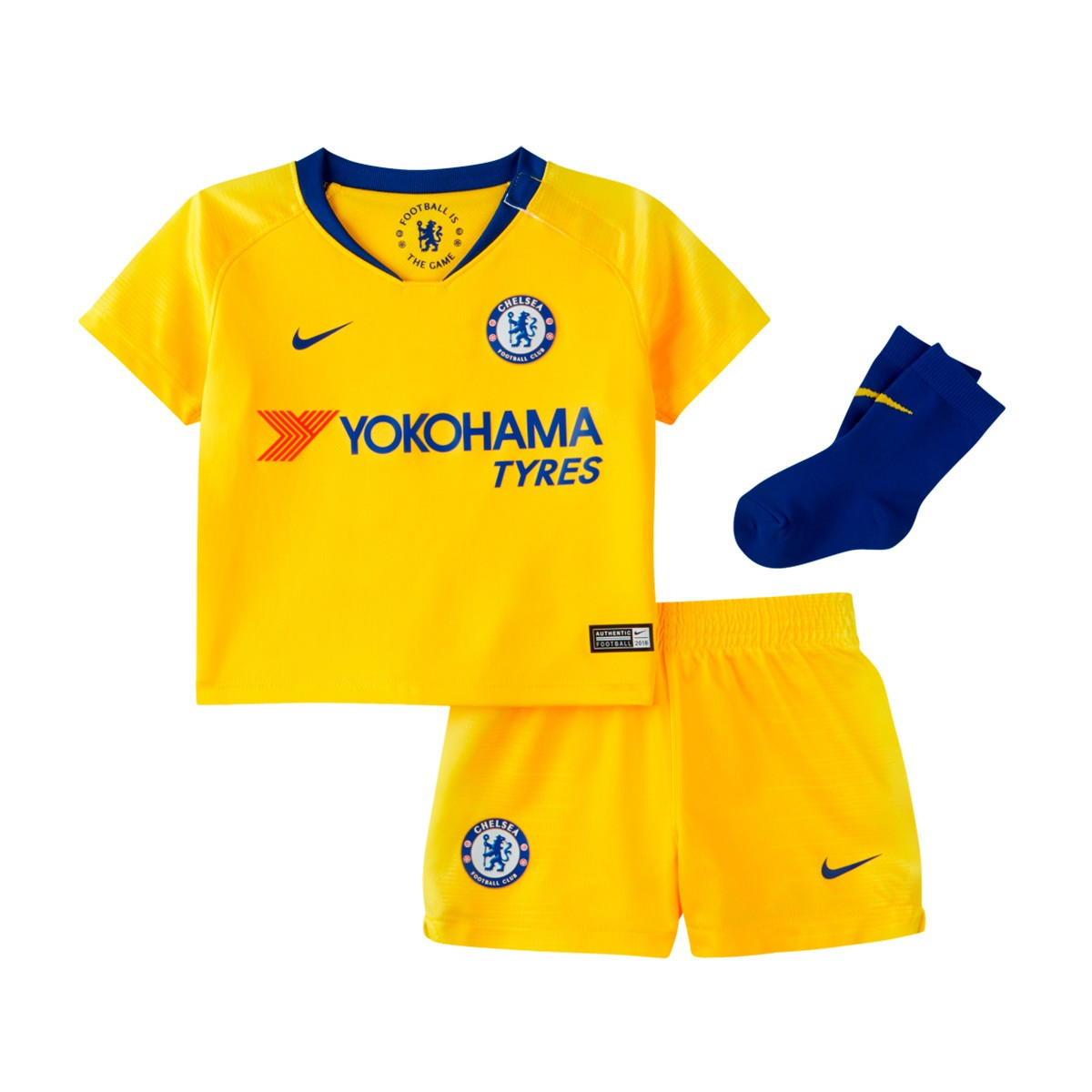 best website 8c5e9 e3e4c Conjunto Bebé Chelsea FC Segunda Equipación 2018-2019 Tour yellow-Rush blue