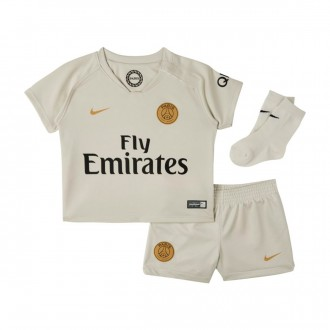 Conjunto  Nike Bebé Paris Saint-Germain Segunda Equipación 2018-2019 Light bone-Truly gold
