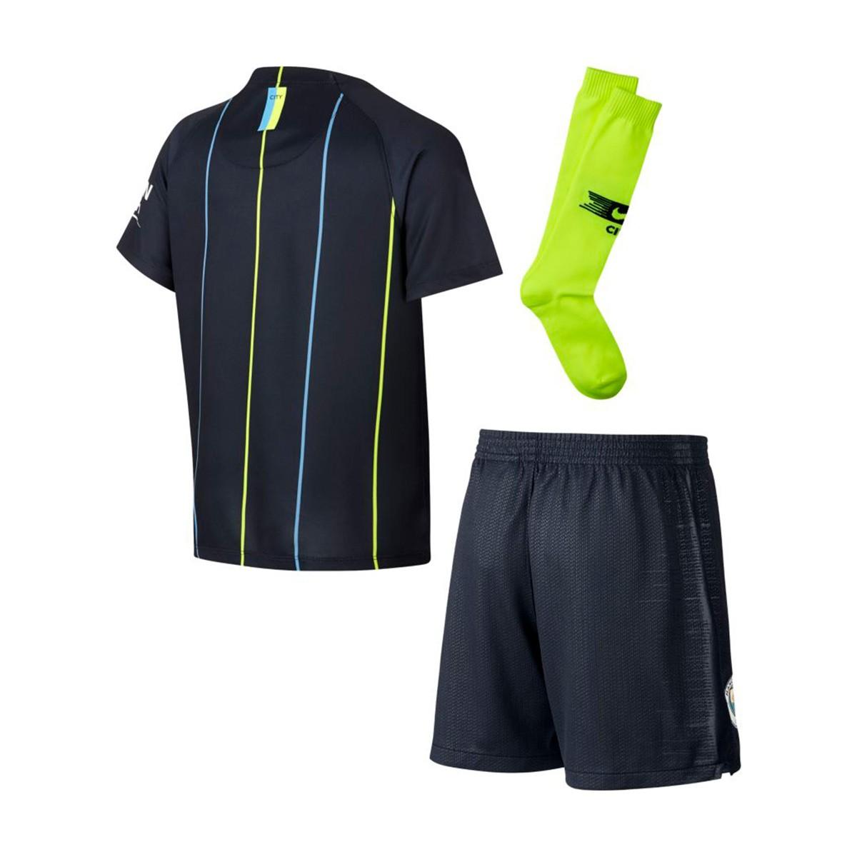 73ad1b689e1 Kit Nike Kids Manchester City FC 2018-2019 Away Dark Obsidian-White ...