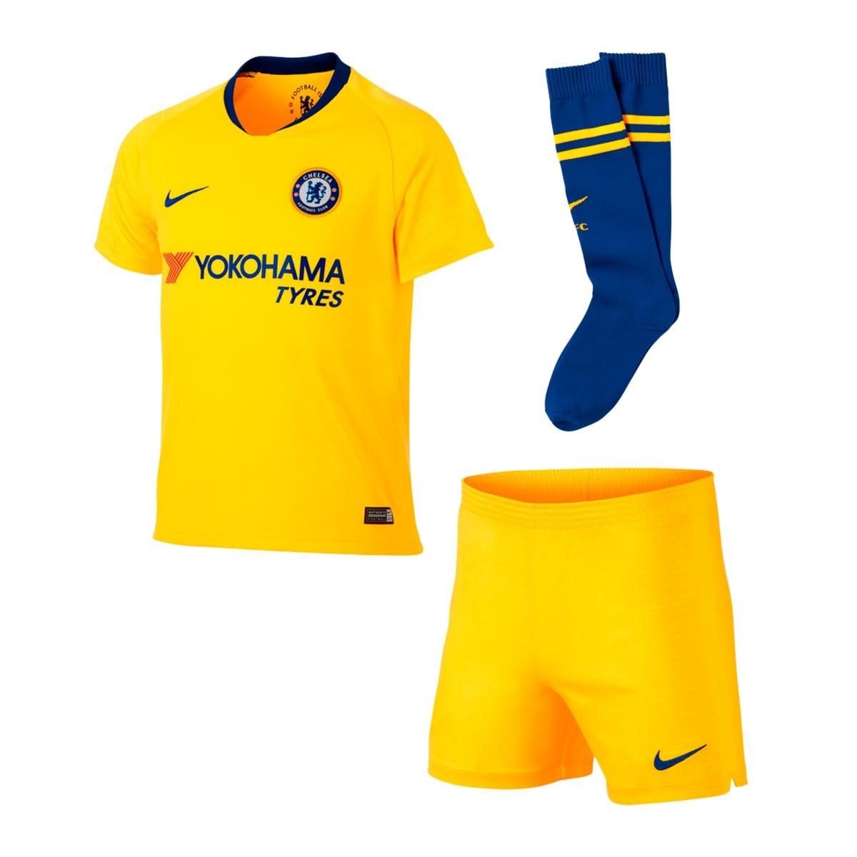 adbc030982070 Conjunto Nike Chelsea FC Segunda Equipación 2018-2019 Niño Tour yellow-Rush  blue - Tienda de fútbol Fútbol Emotion