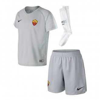 Completo  Nike AS Roma Away 2018-2019 Junior Wolf grey-Black