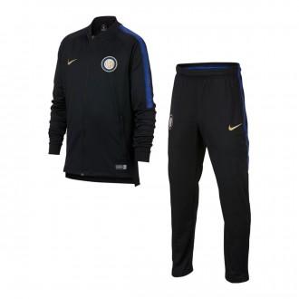 Tracksuit  Nike Kids Inter Milan Squad 2018-2019  Black-Game royal-Truly gold