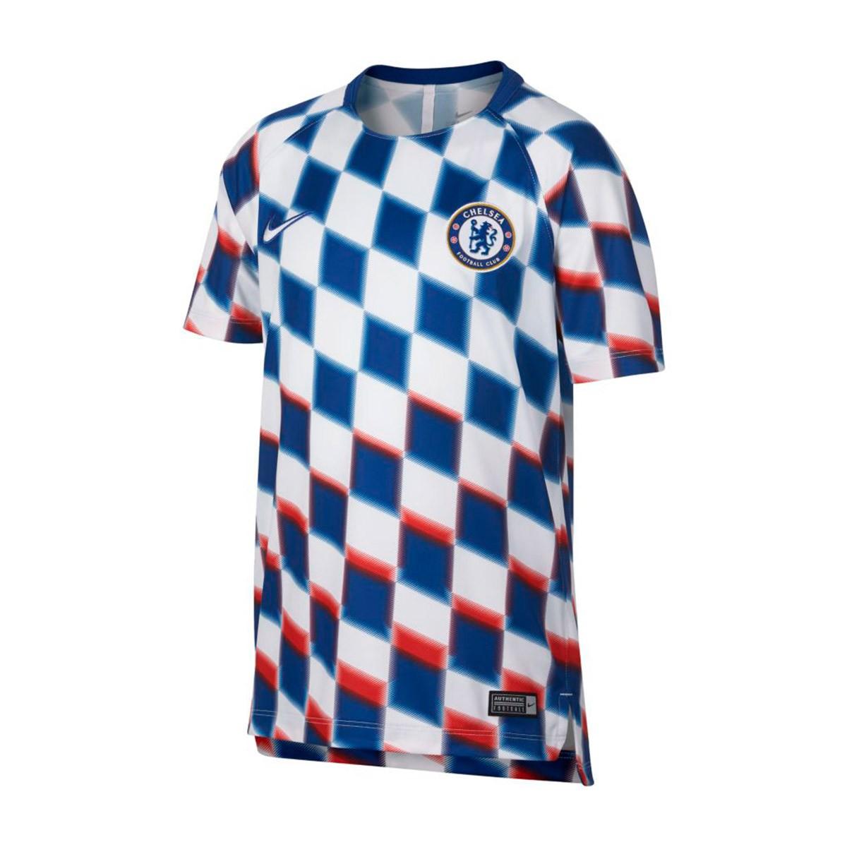 premium selection 006c0 397a1 Camiseta Chelsea FC Squad 2018-2019 Niño White-Rush blue-White