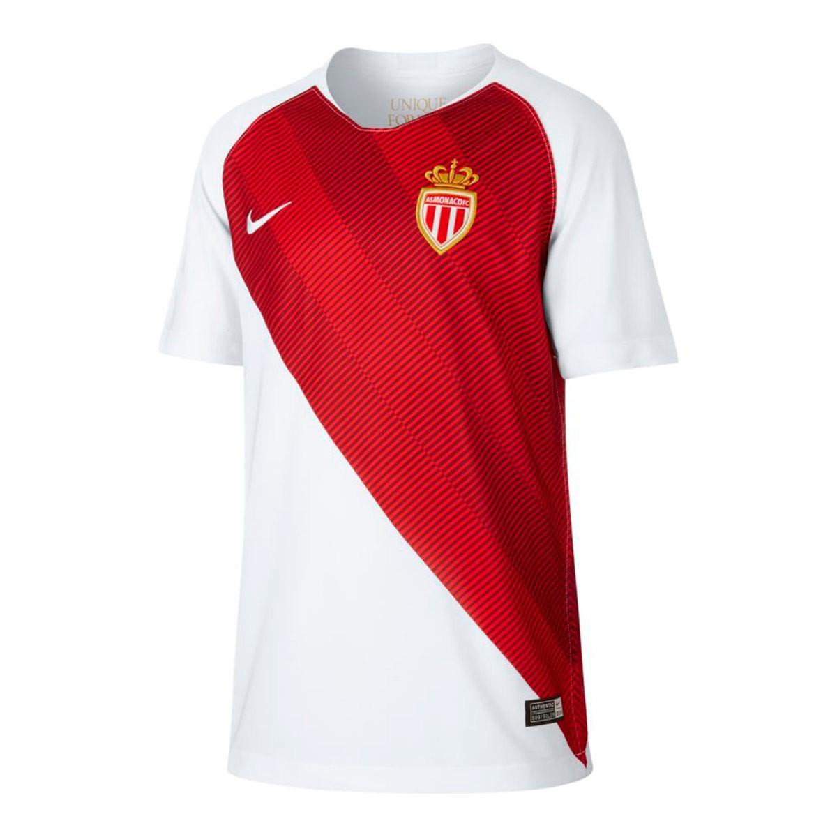 Stadium Primera Camiseta As Monaco Niño 2019 White Equipación 2018 oBerCdx
