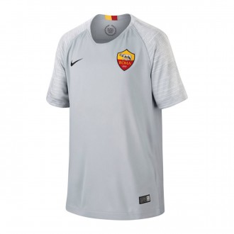 Camiseta  Nike AS Roma Stadium Segunda Equipación 2018-2019 Niño Wolf grey-Black